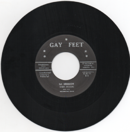 Baba Brooks - 1st Session / 1st Session (Alternative Take) (Gay Feet / Dub Store) 7